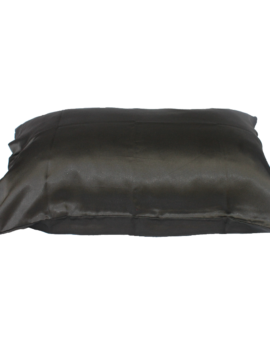 satin black pillowcase