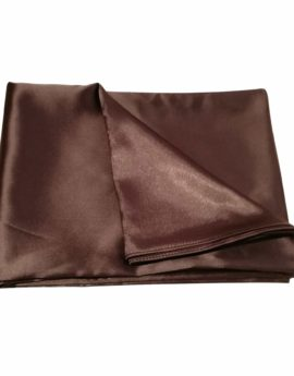 150 x 45 SAtin scarf Sepia brown