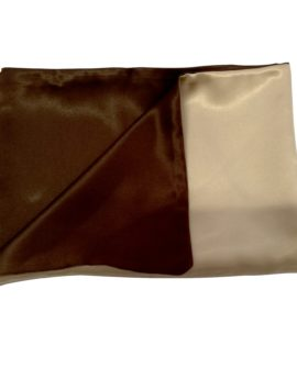 beige and brown pillowcase