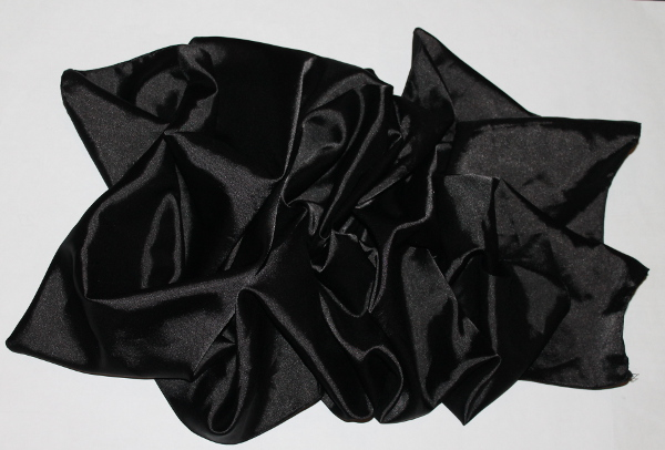 Black Satin Scarf