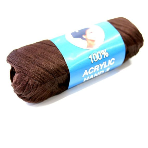 Brown Brazilian wool hair