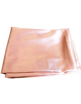 Pink satin pillowcase